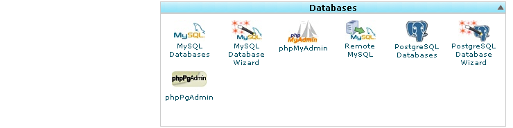 Menu Database pada Cpanel